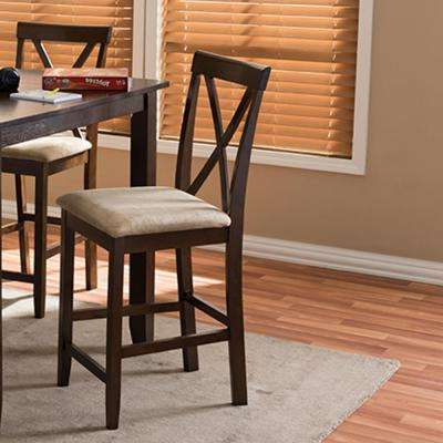 Most Up To Date Modern – Baxton Studio – Kitchen & Dining Room Furniture – Furniture Within Laurent 7 Piece Counter Sets With Upholstered Counterstools (View 20 of 20)
