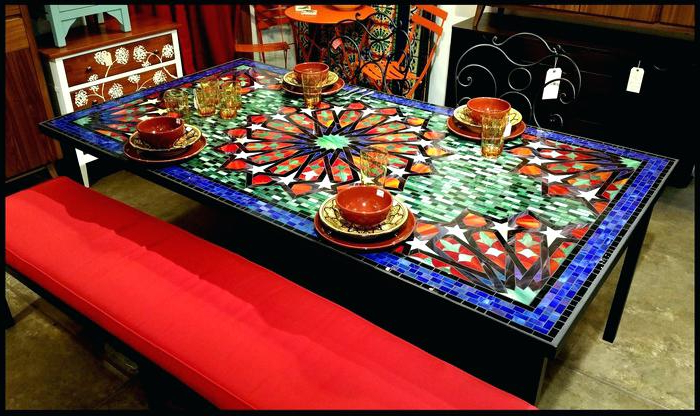 Most Up To Date Mosaic Dining Tables For Sale Intended For Mosaic Dining Table – Ebreeze (View 9 of 20)