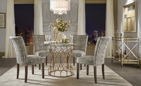 Most Up To Date Palazzo 7 Piece Rectangle Dining Sets With Joss Side Chairs Intended For Willa Arlo Interiors Keeley Bar Cart & Reviews (View 12 of 20)