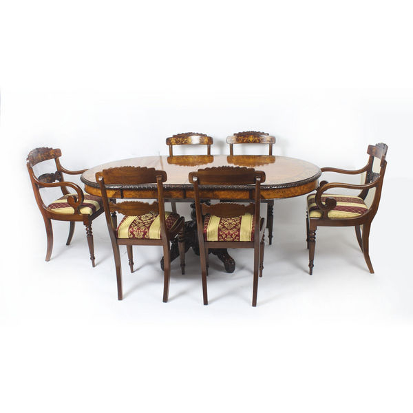 Most Up To Date Parquet 6 Piece Dining Sets Within Antique Walnut Dining Tables – The Uk's Premier Antiques Portal (View 7 of 20)