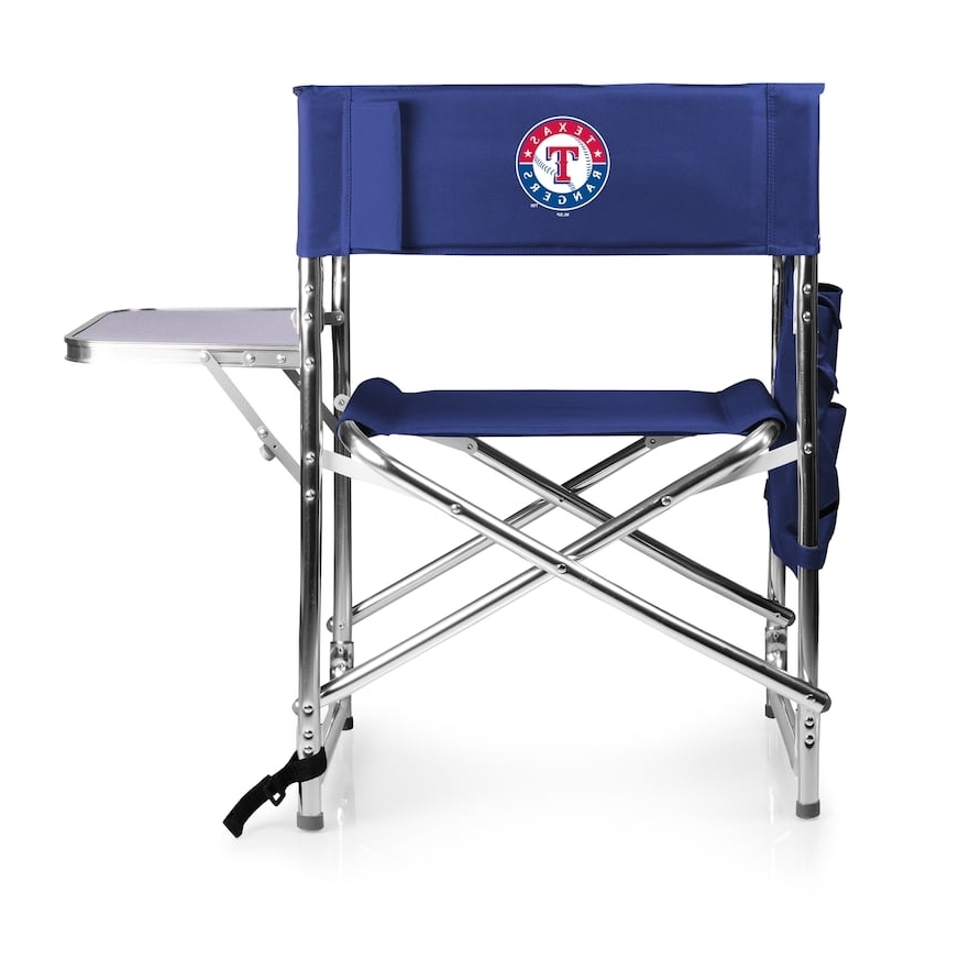 Most Up To Date Picnic Time Texas Rangers Sports Side Table Chair (View 9 of 20)
