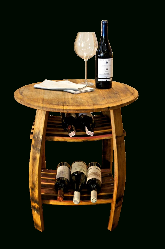 Most Up To Date Pinot – Side Table From An Old Wine Barrel / Loftmarkt (View 5 of 20)