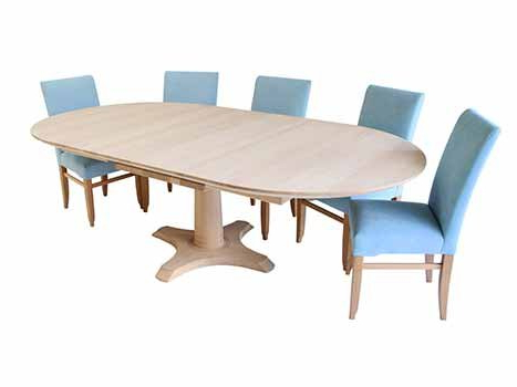Most Up To Date Round Extending Oak Dining Tables And Chairs For Extra Large Dining Tables (View 9 of 20)