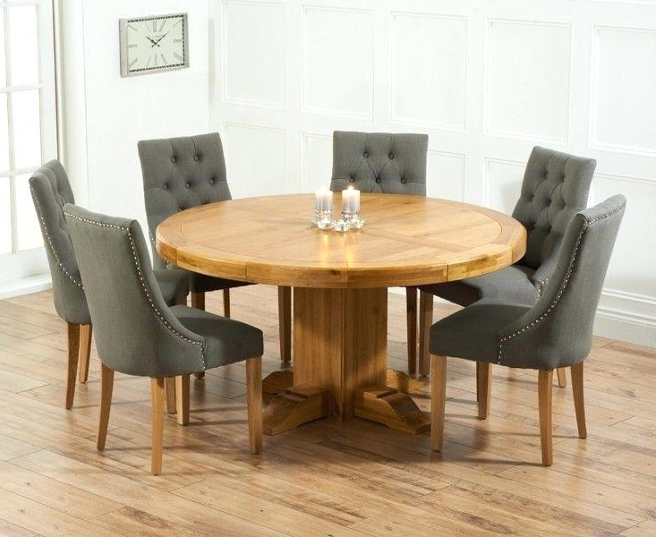 Most Up To Date Round Oak Dining Tables And Chairs Inside Round Table And Chair Set Large Round Oak Dining Table 8 Chairs What (View 14 of 20)