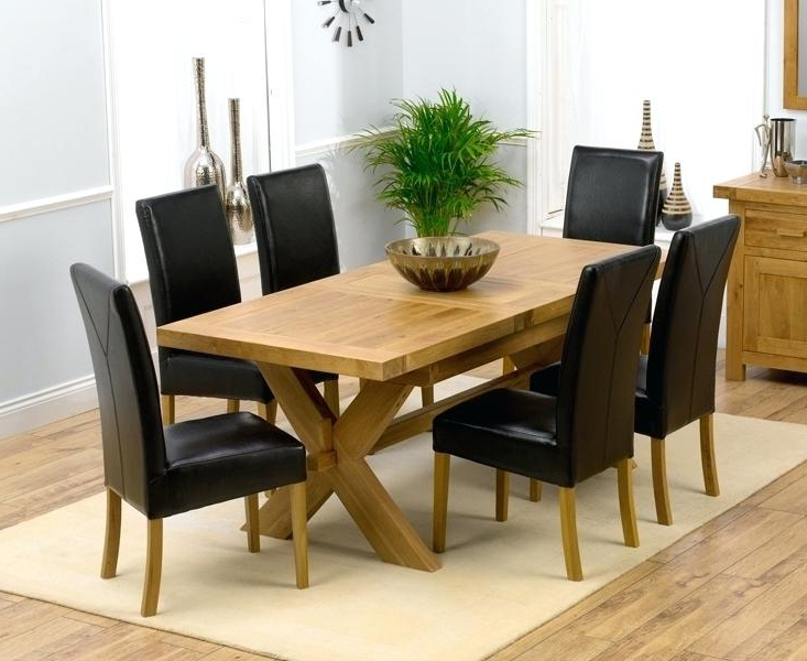 Most Up To Date Round Oak Extendable Dining Tables And Chairs Regarding Decoration: Extendable Wood Dining Table (View 14 of 20)