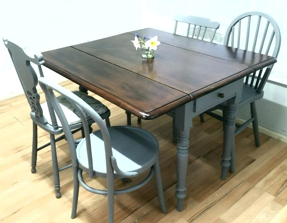 Most Up To Date Rustic Drop Leaf Dining Table Vintage Drop Leaf Dining Table 4 With Regard To Drop Leaf Extendable Dining Tables (View 13 of 20)