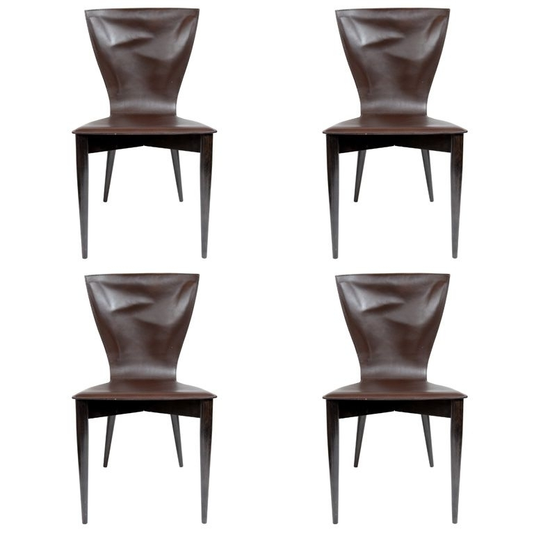 Most Up To Date Set Of Four Carlo Bartoli For Matteograssi Vela Dining Chairs Throughout Vela Side Chairs (View 13 of 20)