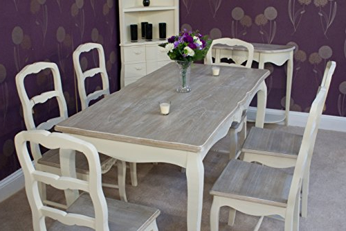 Most Up To Date Shabby Chic Dining Chairs Intended For Classic Casamore Devon Rectangular Dining Table And 6 Dining Chairs (View 13 of 20)