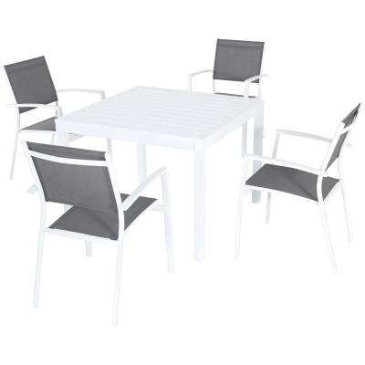 Most Up To Date Sling Patio Furniture – Square – Patio Dining Furniture – Patio Inside Harper 5 Piece Counter Sets (View 12 of 20)