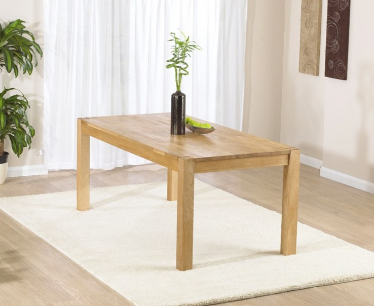 Most Up To Date Verona Solid Oak 120Cm Dining Table (View 10 of 20)