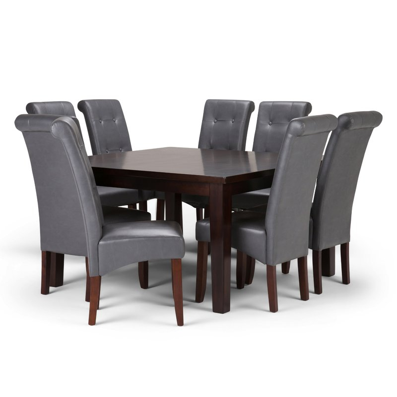 Most Up To Date Walden 9 Piece Extension Dining Sets Within Simpli Home Cosmopolitan 9 Piece Dining Set (View 9 of 20)