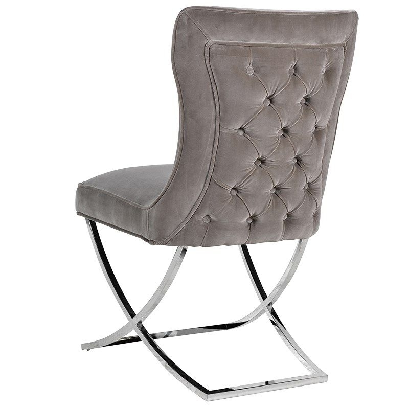 Mouse Grey Dining Chair Buttoned Back With Well Known Button Back Dining Chairs (View 10 of 20)