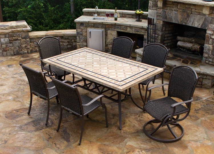 Mqs 7Pc Swv With Regard To Outdoor Tortuga Dining Tables (View 5 of 20)