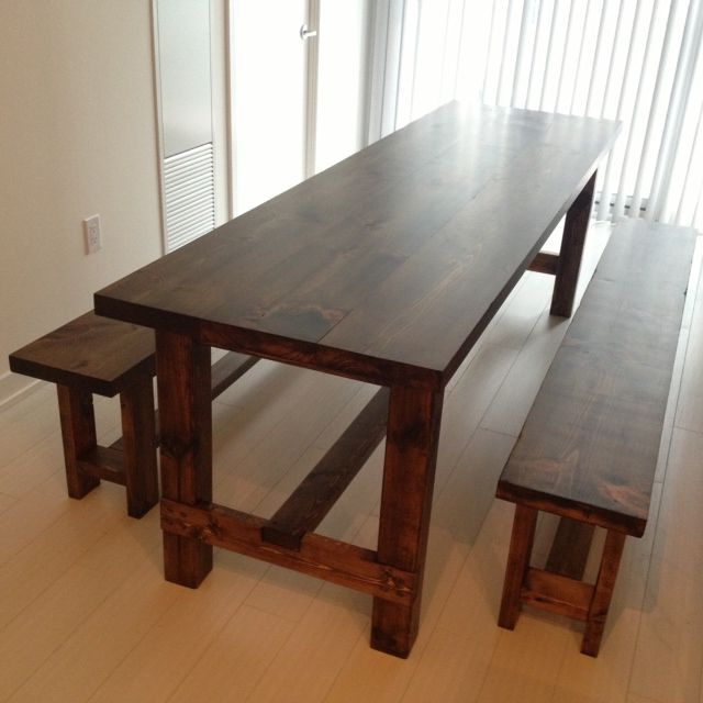 Narrow Dining Table With Bench (View 10 of 20)