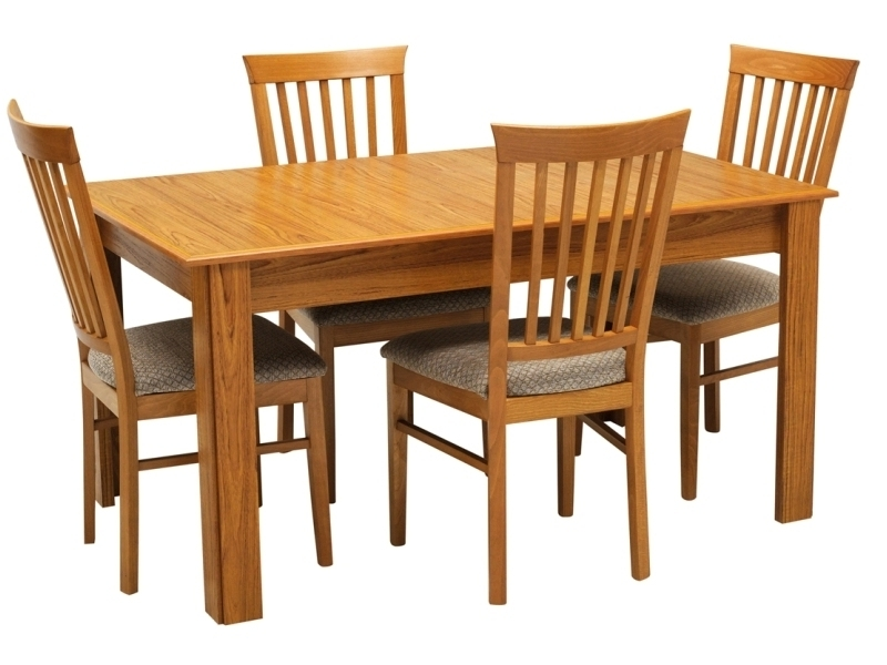 Natural Brown Teak Wood Leather Dining Chairs With Newest Swani Furniture (View 8 of 20)