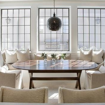 Natural Linen Swoop Arm Dining Chairs Design Ideas Within Widely Used Armless Oatmeal Dining Chairs (View 13 of 20)