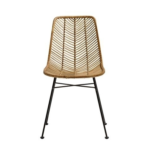 Natural Rattan Metal Chairs For 2017 Bloomingville Lena Dining Chair In Natural Rattan (View 5 of 20)