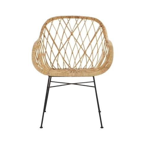 Natural Rattan Metal Chairs In 2018 Natural Rattan Flower Chair (View 2 of 20)