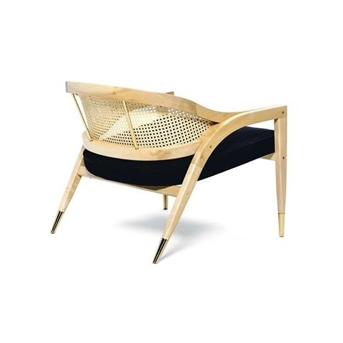 Natural Rattan Metal Chairs In Trendy Wormley Chair – Natural Wood, Rattan And Velvet – Various Fabrics (View 16 of 20)