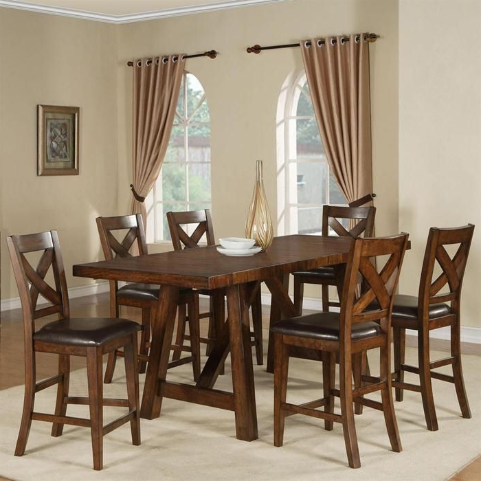 Nebraska Furniture In Norwood 7 Piece Rectangular Extension Dining Sets With Bench, Host & Side Chairs (View 10 of 20)
