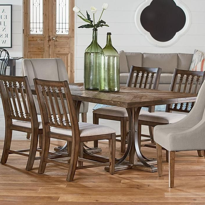 Nebraska Furniture Throughout Well Liked Magnolia Home Shop Floor Dining Tables With Iron Trestle (View 7 of 20)