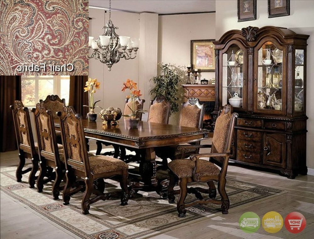 Neo Renaissance Formal Dining Room Furniture Set With Optional China Throughout Most Current Bale 6 Piece Dining Sets With Dom Side Chairs (View 14 of 20)