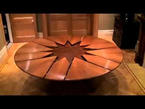 New Technology Table Expandable Round Dining Table – Youtube Pertaining To Favorite Extendable Round Dining Tables (View 18 of 20)