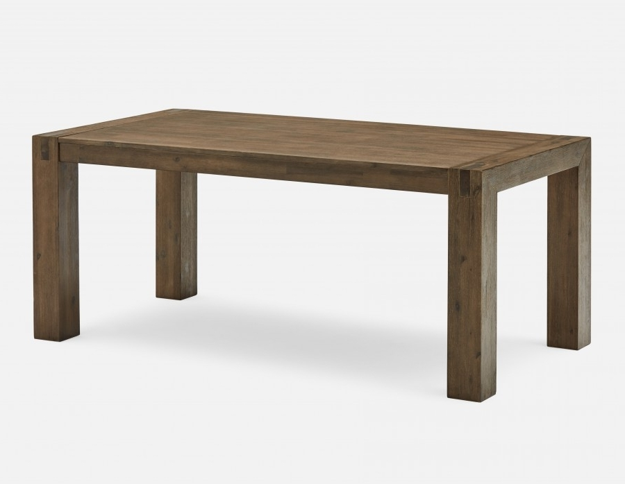 Newest 180Cm Dining Tables Regarding Hamburg Acacia Wood Dining Table 180Cm (71'') (Gallery 10 of 20)