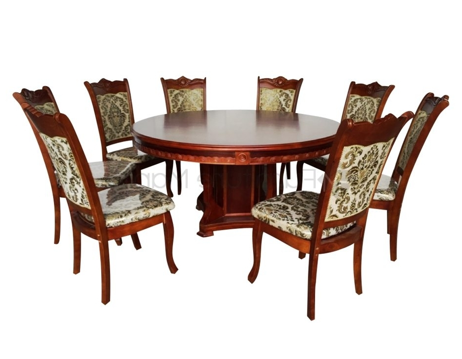 Newest 8 Seater Round Dining Table And Chairs Throughout 8 Seaters (View 13 of 20)