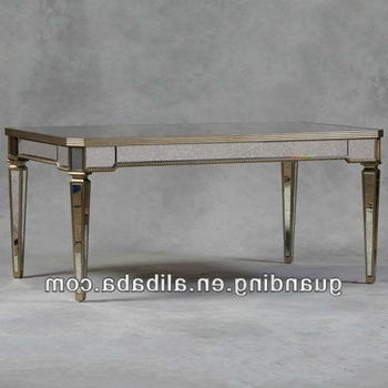 Newest Antique Mirror Dining Tables Throughout Antique Mirrored Glass Dining Table – Buy Glass Mirror Bedside (Gallery 5 of 20)