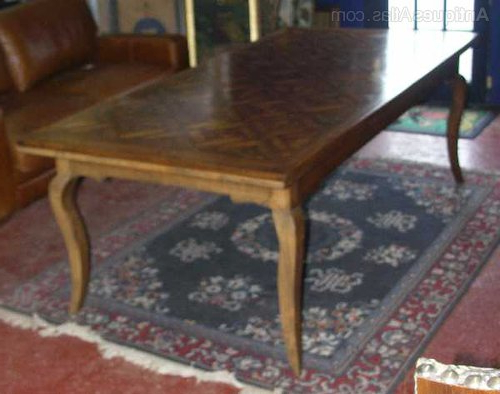 Newest Antiques Atlas – French Oak Parquet Top Dining Table Regarding Parquet Dining Tables (View 10 of 20)