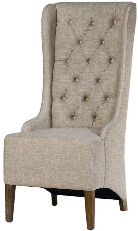 Newest Armless Oatmeal Dining Chairs In Set /2 Tufted High Back Linen Dining Chair Grey Or Oatmeal ,23'' X (View 14 of 20)