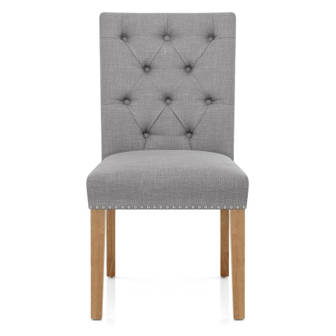 Newest Barrington Oak Dining Chair Grey Fabric – Atlantic Shopping In Oak Dining Chairs (Gallery 18 of 20)