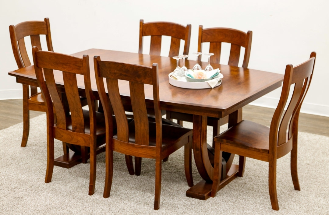 Newest Biltmore Side Chairs Pertaining To Biltmore Double Pedestal Table With 6 Austin… (View 13 of 20)