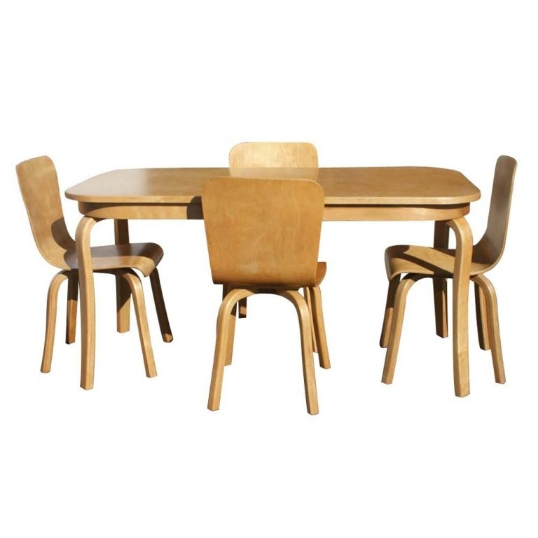 Newest Birch Dining Tables In Bentwood Birch Dining Table And Four Chairs At 1Stdibs (View 14 of 20)