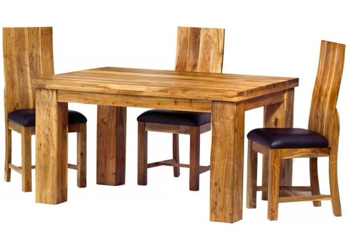 Newest Bonsoni Maharaja Metro Dining Table With 4 Chairs Hand Crafted From With Regard To Metro Dining Tables (View 20 of 20)