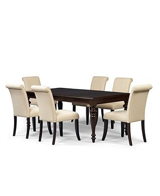 Newest Bradford Dining Tables Intended For Bradford Dining Room Furniture, 9 Piece Set (Table And 8 Upholstered (View 16 of 20)