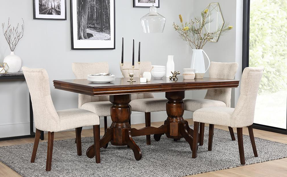 Newest Chatsworth Dark Wood Extending Dining Table And 6 Chairs Set (Bewley With Regard To Dark Wood Dining Tables 6 Chairs (Gallery 9 of 20)