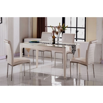 Newest China Cheap Marble Top Dining Table Sets,6 Seater Dining Table For Cheap 6 Seater Dining Tables And Chairs (View 3 of 20)