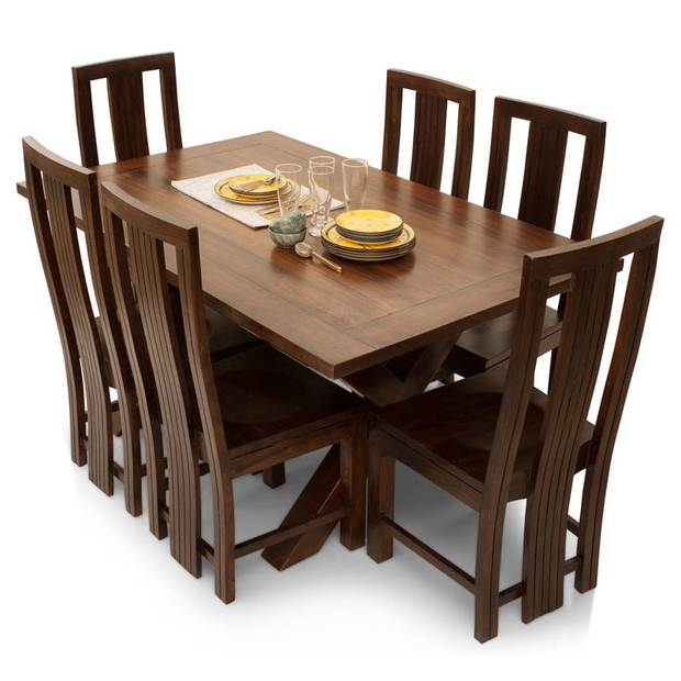 Newest Clovis Barcelona 6 Seater Dining Table Set – Lock And Pull Regarding 6 Seater Dining Tables (View 19 of 20)