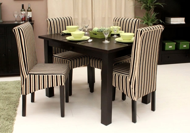 Newest Contemporary Kudos Dark Wood Small Dining Table Designbaumhaus For Small Dark Wood Dining Tables (View 11 of 20)