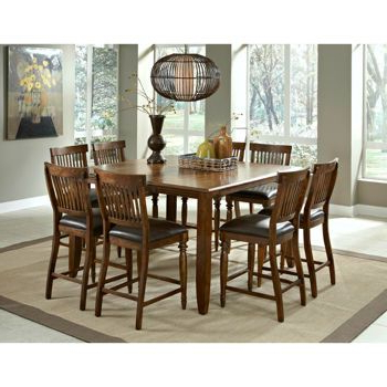 Newest Craftsman 9 Piece Extension Dining Sets With Uph Side Chairs In Arlington 9 Piece Counter Height Dining Set From Costco $ (View 18 of 20)
