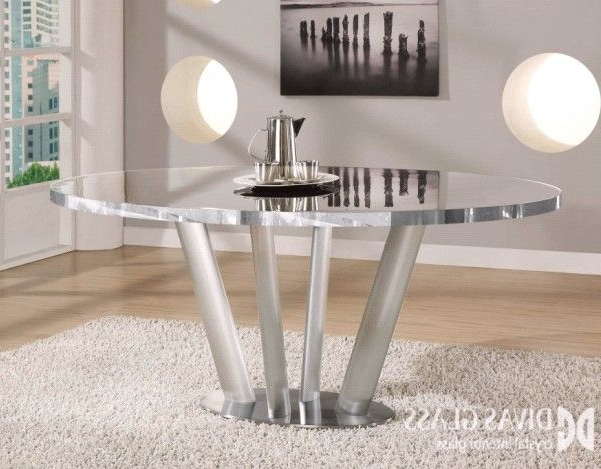 Newest Crystal Glass Dining Table (View 17 of 20)