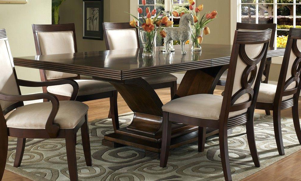 Newest Dark Wood Dining Room Furniture – Wiseme In Solid Dark Wood Dining Tables (Gallery 2 of 20)