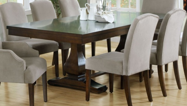 Newest Dark Wooden Dining Tables Regarding Dining Room Design: Dark Wooden Extension Dining Table, Dining Table (View 4 of 20)