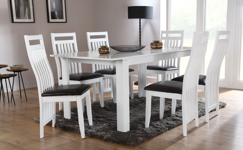 Newest Dining Room: Awesome White Dining Room Table White Dining Table With White Dining Tables (View 16 of 20)