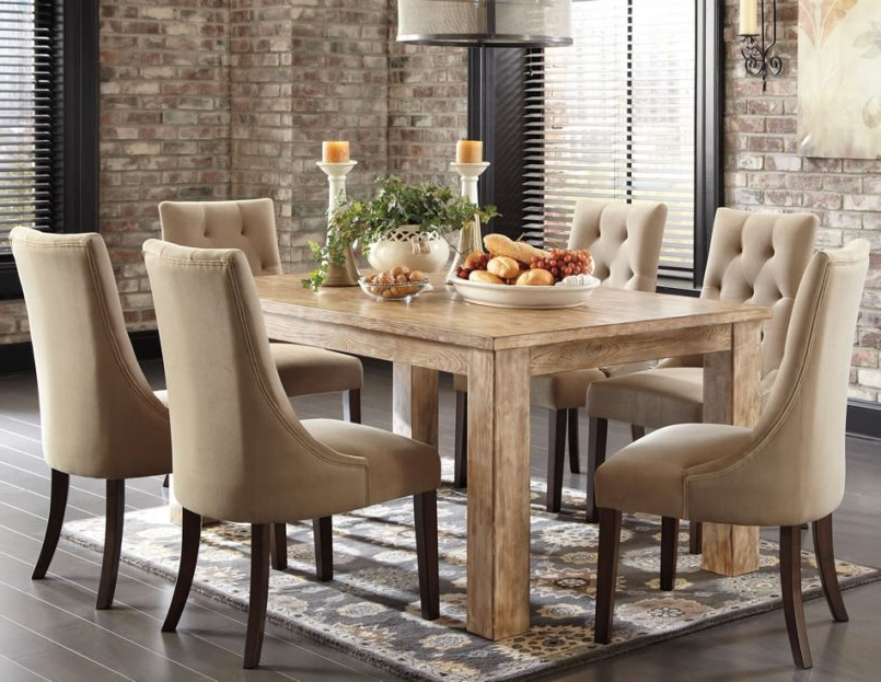 Newest Dining Tables And Chairs Sets With Regard To Dining Room Rustic Dining Room Furniture Sets Large Dining Room (Gallery 19 of 20)