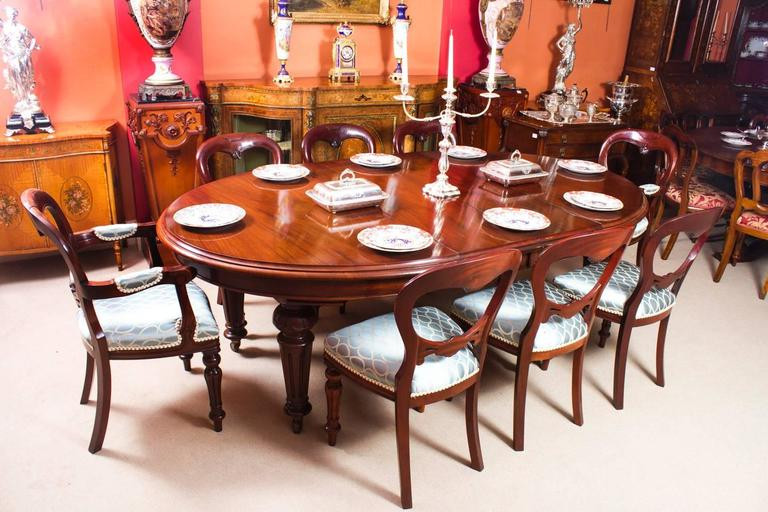 Newest Dining Tables For Eight Regarding Antique Victorian Oval Dining Table And Eight Chairs, Circa 1860 At (View 2 of 20)
