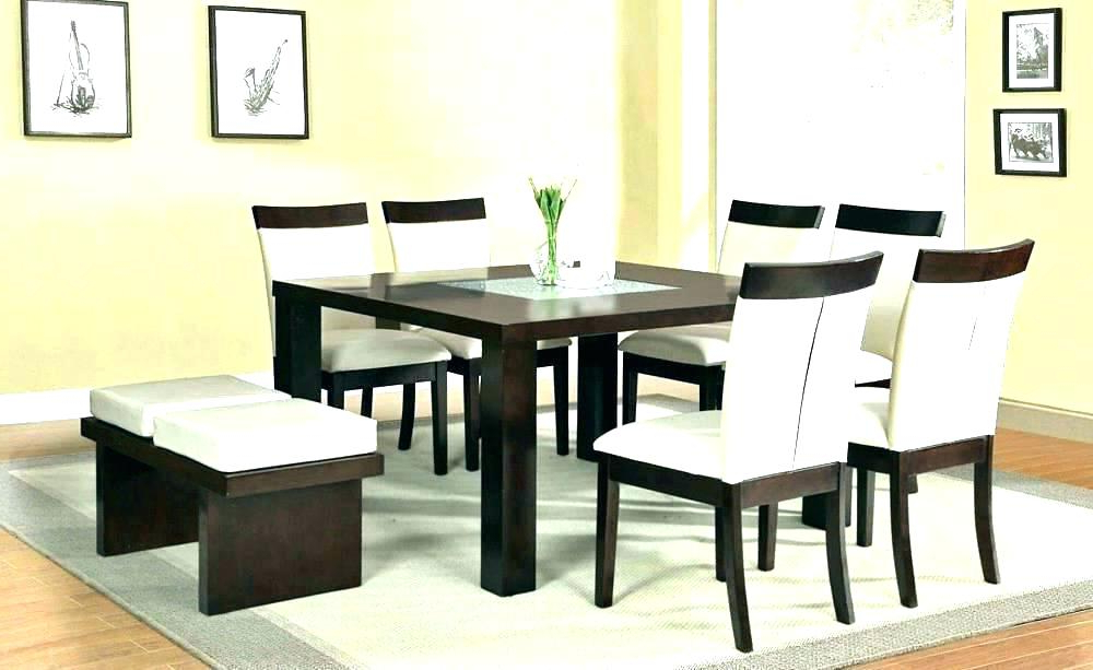 Newest Dining Tables Seats 8 Throughout Square Kitchen Table With 8 Chairs 8 Chair Square Dining Table (View 16 of 20)