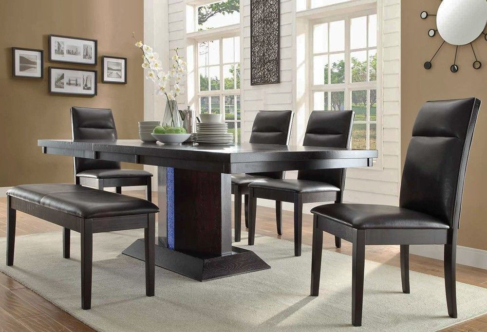 Newest Dining Tables With Led Lights Within Blaise Modern Table With Led Lights – (View 13 of 20)